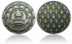 The Colors of Geocaching Geocoin - OPTIMISMUS - Antik Silber