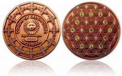 The Colors of Geocaching Geocoin - OPTIMISM - Antique Copper LE