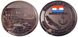 Croatia Caching Geocoin Black Nickel LE