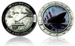 Titanic Geocoin Antik Silber