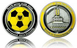 Dortmund 2012 Geocoin Antique Silver