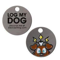 Original Groundspeak Log My Dog Tag Trackable