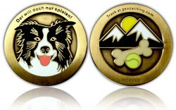 My Best Friend Geocoin Antik Gold
