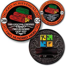 Geo-Achievement® 200 Hides Geocoin Set (incl. Pin)