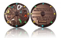 Geocacher's Day Geocoin Black Nickel