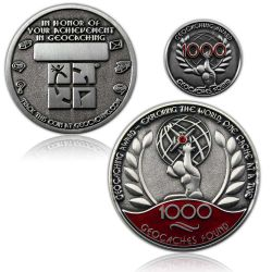 Geo Award Geocoin - 1000 Finds Set (inkl. Pin)