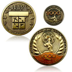Geo Award Geocoin - 2000 Finds Set (inkl. Pin)