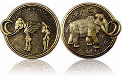 Mammut Geocoin Antik Gold