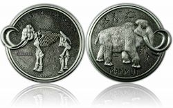 Mammut Geocoin Antik Silber