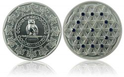 The Colors of Geocaching Geocoin -CONCENTRATION- Satin Silber LE