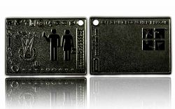 Geocacher Plaque Geocoin Black Nickel
