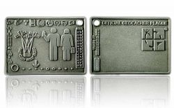 Geocacher Plaque Geocoin Antik Silber XLE