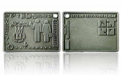 Geocacher Plaque Geocoin Antik Silber XLE