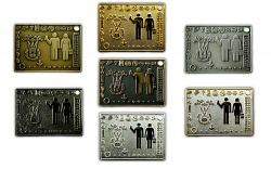 Geocacher Plaque Geocoin Sammler SET (7 COINS)