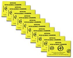 Geocaching Micro Logbook Yellow 200 (10 pcs.)
