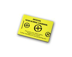 Geocaching Micro Logbuch Gelb 200 (1 Stück)
