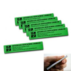 Geocaching.com PET Logbook green 200 (6 pcs.)