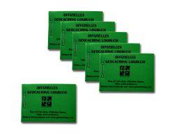 Geocaching.com Micro Logbuch grün 200 (6 Stück)