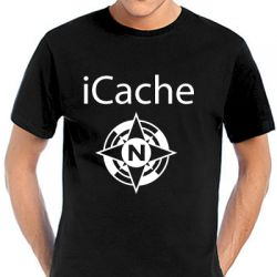 Geocaching T-Shirt | iCache Compass Rose black