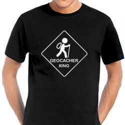 Geocaching T-Shirt | Geocacher Xing black