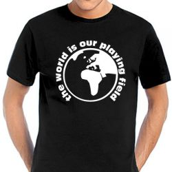 Geocaching T-Shirt | The World is our Playing Field black