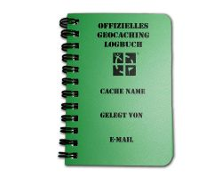 Geocaching.com Logbook A7 Green -GERMAN-