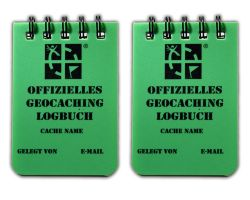 Small Geocaching.com Logbook A8 Green (2pcs) -GERMAN-