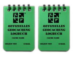 Kleines Spiral Geocaching.com Logbuch A8 grün (2er Pack) DEUTSCH