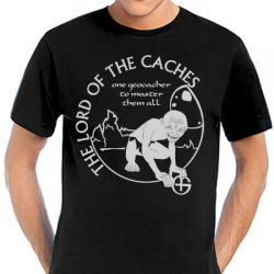Geocaching T-Shirt | Lord of the Caches in vielen Farben