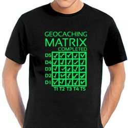 Geocaching T-Shirt | Matrix Completed black