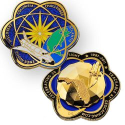 Space Shuttle Geodesic Geocoin - Poliertes Gold