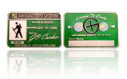 Geocacher's License GC Antik Silber