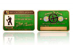 Geocacher's License GC Antik Gold