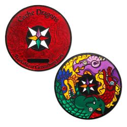 Cache Dragons Geocoin Limited Edition Black Nickel