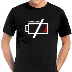 Geocaching T-Shirt | Battery Game Over in vielen Farben