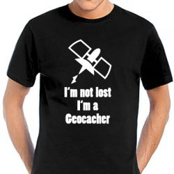 Geocaching T-Shirt | I'm not lost... black