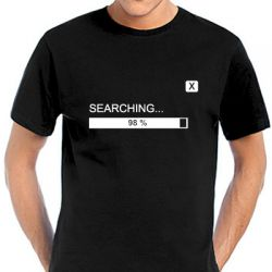 Geocaching T-Shirt | Searching black