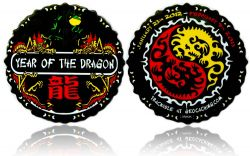 Year of the Dragon Geocoin Black Nickel