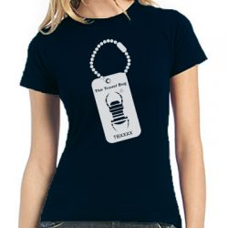 Travelbug® Ladyshirt | TB-Plakette trackbar - verschiedene Farbe