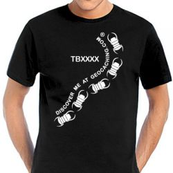 Travelbug® T-Shirt TB | TB-Swarm trackable black