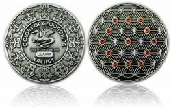 The Colors of Geocaching Geocoin -ENERGY- Antique Silver