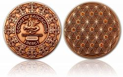 The Colors of Geocaching Geocoin -ENERGY- Antique Copper LE