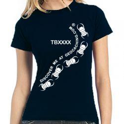Travelbug® Ladyshirt | TB-Schwarm trackbar - verschiedene Farben