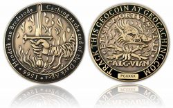 Medieval Caching Geocoin Antik Gold