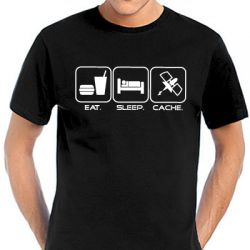 Geocaching T-Shirt | Eat. Sleep. Cache. in vielen Farben