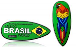 First Brazil Geocoin Black Nickel
