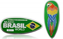 First Brazil Geocoin Polished Silver