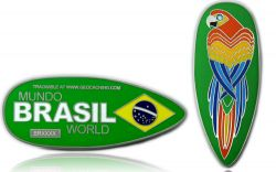 First Brazil Geocoin Antique Silver XLE