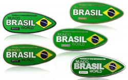 First Brazil Geocoin Collector SET (5 COINS)