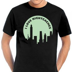 Geocaching T-Shirt | I Love Nightcaches black